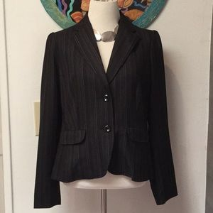 George Black Pinstripe Stretch Blazer Size 4